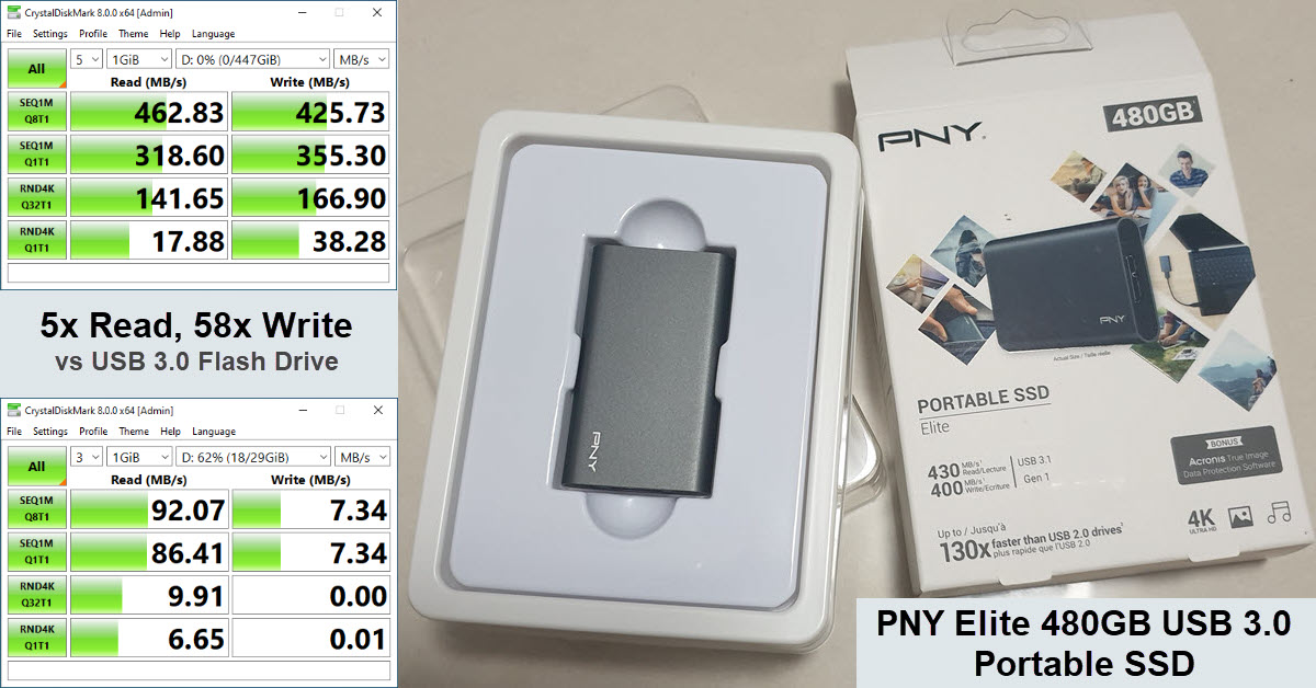 PNY Elite 480GB USB 3.0 Portable SSD Review
