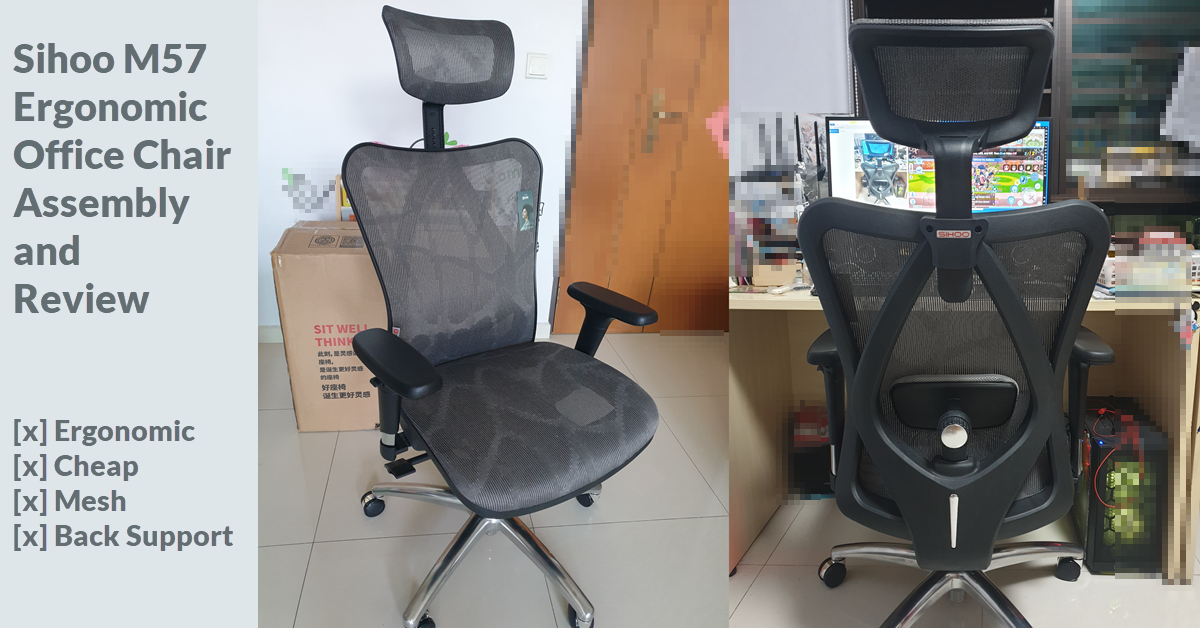 Sihoo M57 Ergonomic Office Chair Assembly and Review